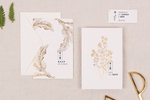 Laure de Sagazan Save the Date Cards