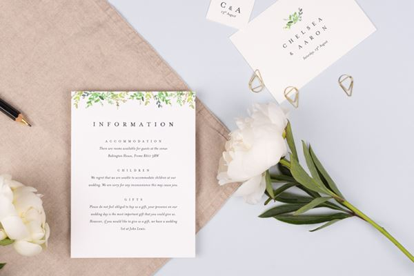 Wedding Invitation Inserts from Atelier Rosemood