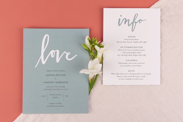 Wedding Invitations from Atelier Rosemood Love Letters