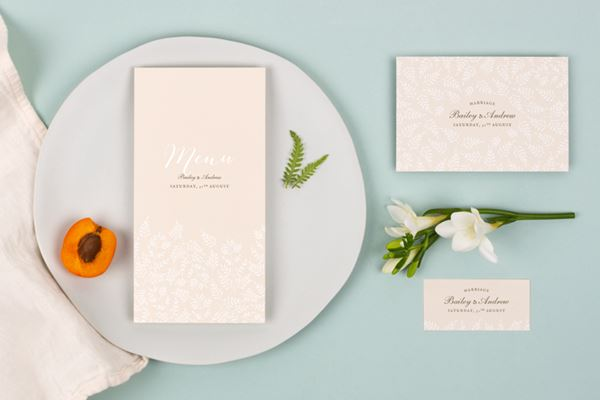 Wedding Menu Cards from Atelier Rosemood Fern Foray