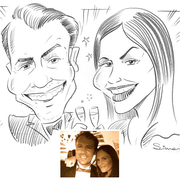 caricaturist wedding entertainment, Caricatures 4U