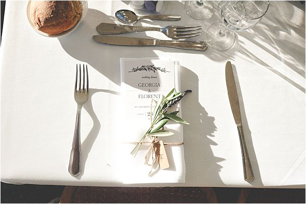 wedding at le galinier de lourmarin Stationary