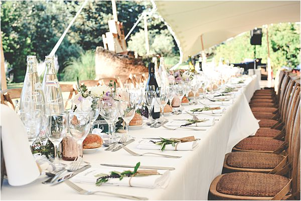 wedding at le galinier de lourmarin Tables