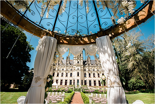 Wedding at Chateau Challain France Canopy