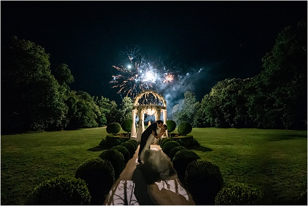 Wedding at Chateau Challain France Fireworks