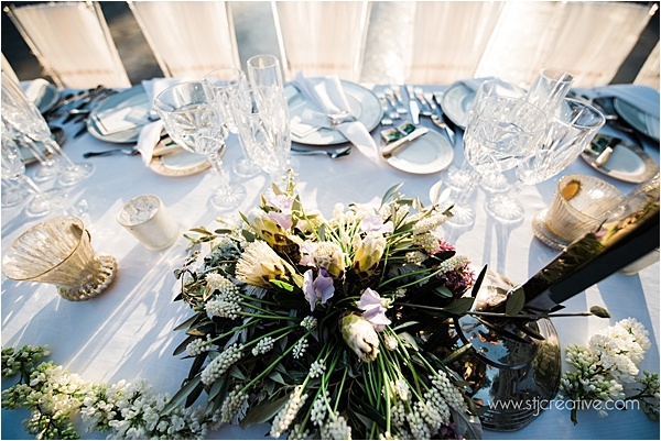 Wedding at Chateau Challain France Table Setup