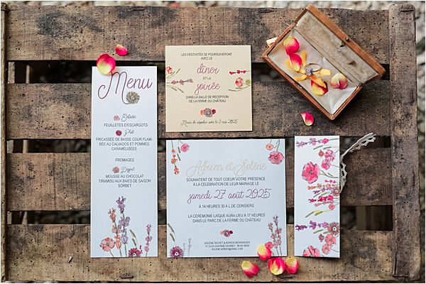 Dare to be Different wedding inspiration in France stationary