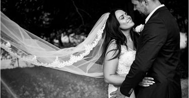 Enzoani bride for real wedding at Chateau La Gauterie 0810