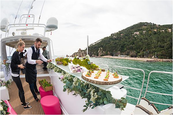 Exclusive Yacht wedding and anniversaries in France Food