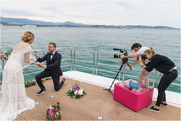 Exclusive Yacht wedding and anniversaries in France Photo shoot