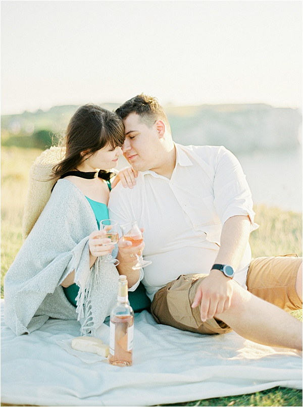 Romantic French Elopement in Normandy France Couple