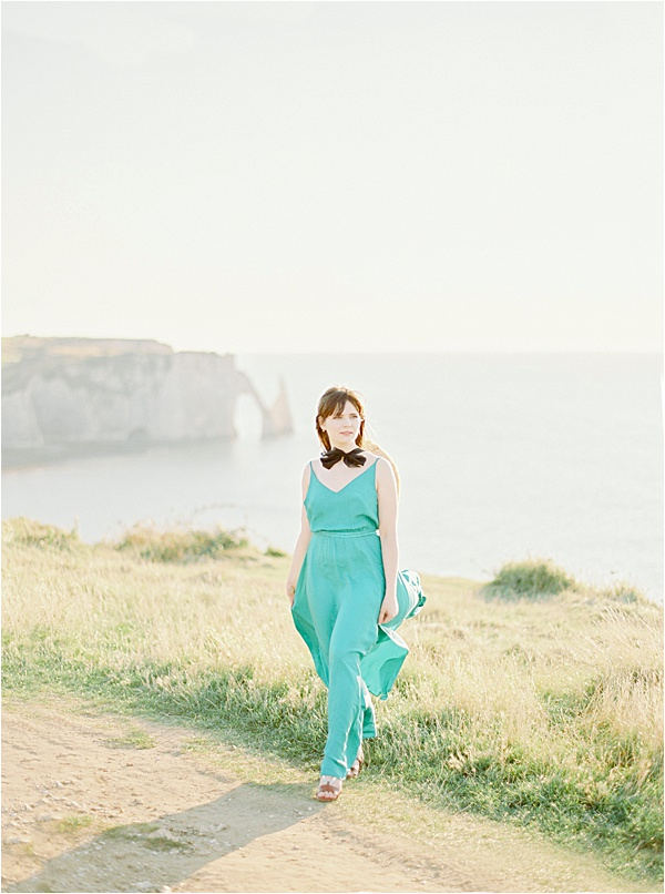 Romantic French Elopement in Normandy France Bride