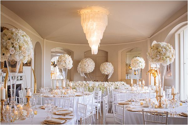 Paula Rooney classic white luxury wedding flowers, on French Wedding Style