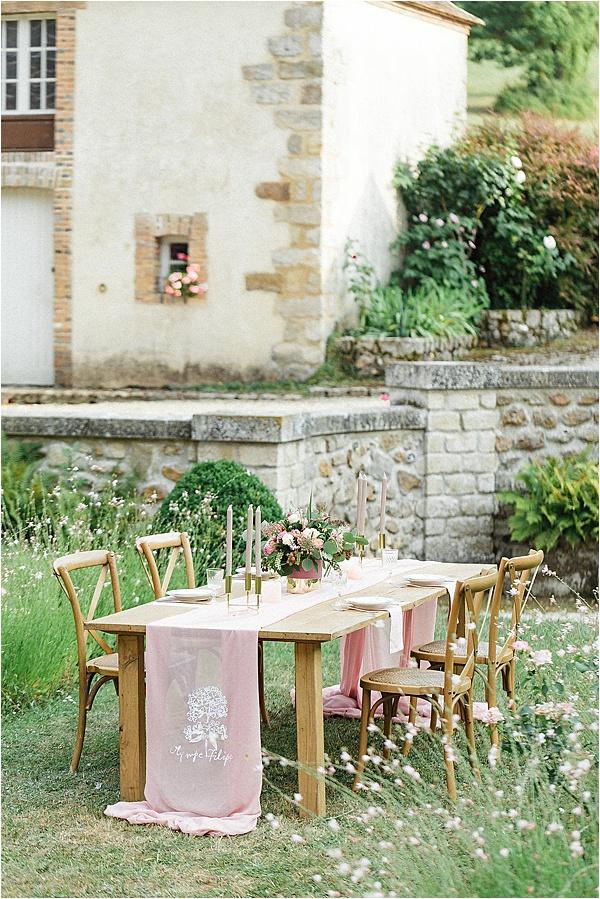 Château de Bois Le Rois Table Setup