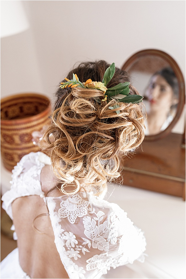 Italian and Provencal Inspired Wedding Hair Style
