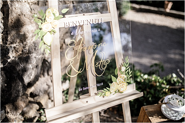 Italian and Provencal Inspired Wedding Signage