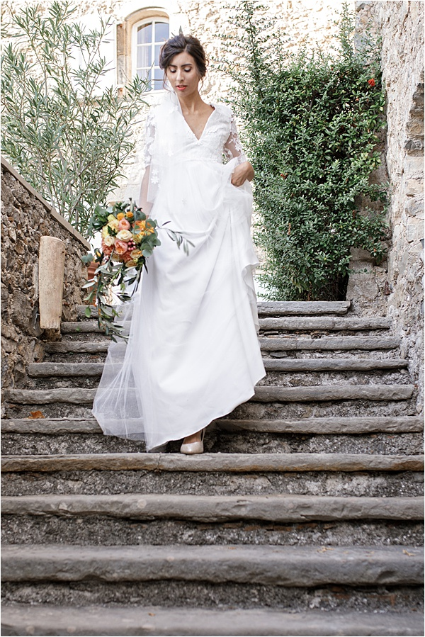 Italian and Provencal Inspired Wedding Dress