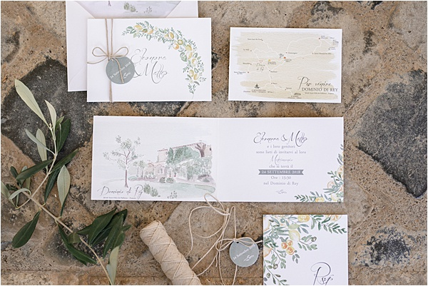 Italian and Provencal Inspired Wedding Stationery