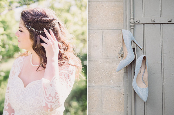 wedding in Provencal Beauty - Hair Style and Shoes on French Wedding Style