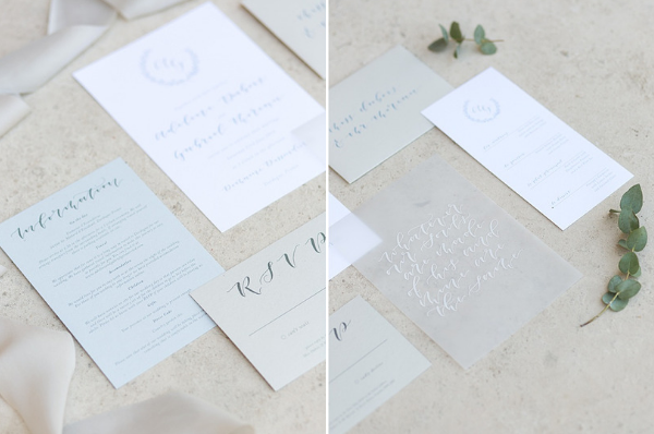Classic French Wedding at Domaine d'Essendieras Stationery