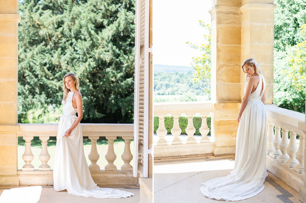 Classic French Wedding at Domaine d'Essendieras Dress