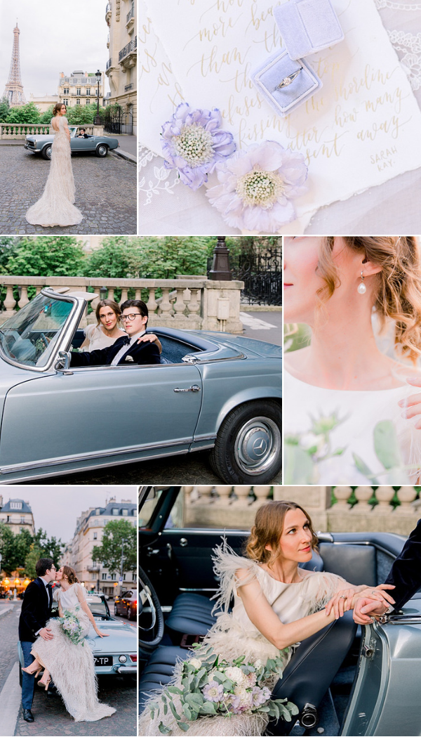 Celestina Agostino 2018 bride in Paris Snapshot