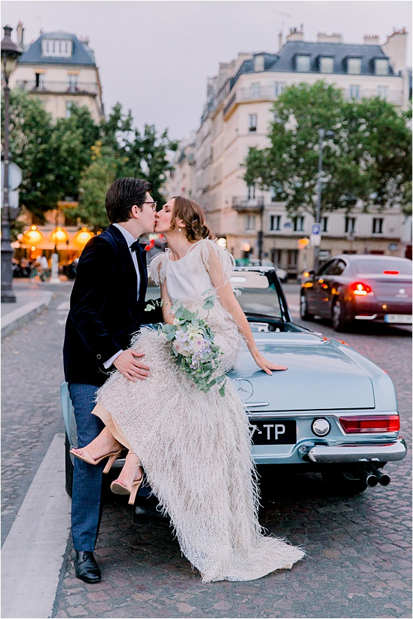 Paris Vintage Elopement Couple