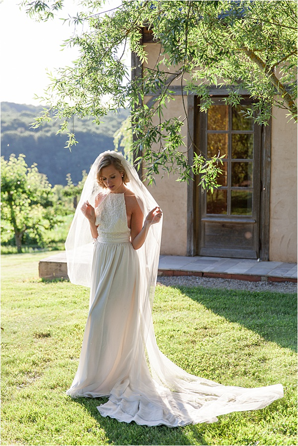Classic French Wedding at Domaine d'Essendieras Bride