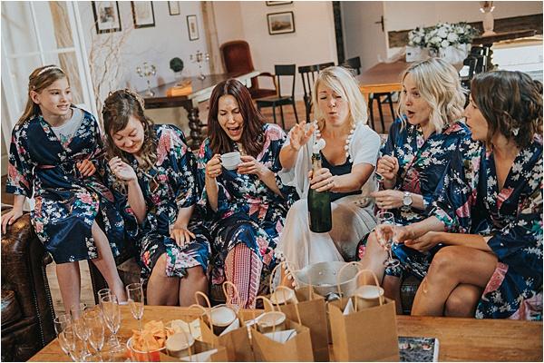 Gorgeous Bridesmaids at wedding in Bergerac