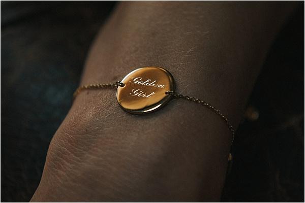 Gold Bracelet at wedding in Bergerac