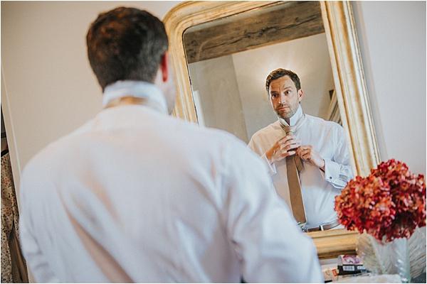 Excited Groom at wedding in Bergerac