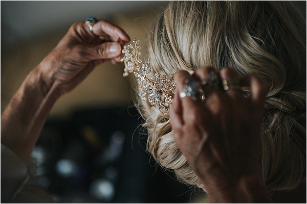 Unique Hair Style at wedding in Bergerac