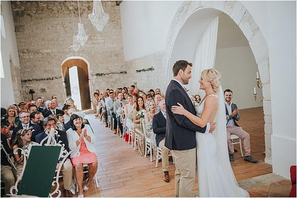 Ceremonial Setting at wedding in Bergerac