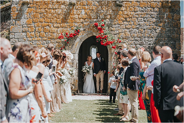 Newly Wedded Couple at wedding in Bergerac