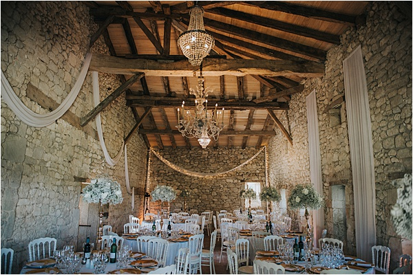 Dining Area at wedding in Bergerac