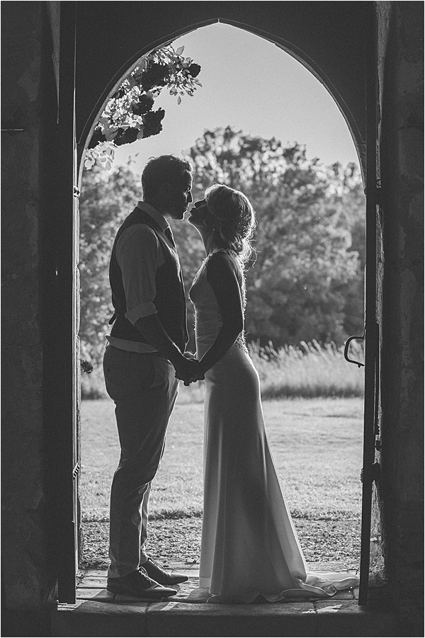 Intimate Couple at wedding in Bergerac