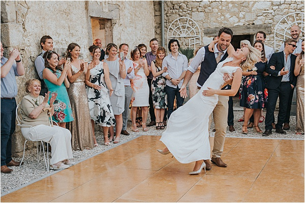 Couple's Dance at wedding in Bergerac