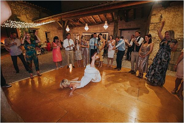 Brides Stunt at wedding in Bergerac