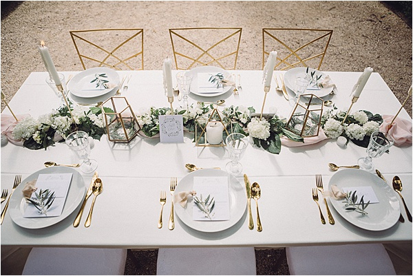 wedding in Provencal Beauty - Wonderful Table Setup on French Wedding Style