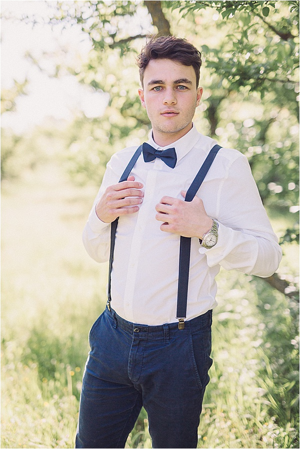wedding in Provencal Beauty -Grooms Bow Tie on French Wedding Style