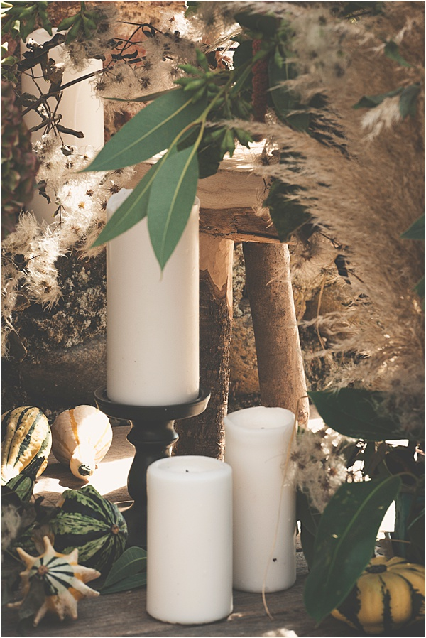 White Candles for 2019 Wedding Trends