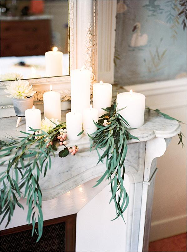 Aurelie Mey Bride - Candle and Flower Decorations