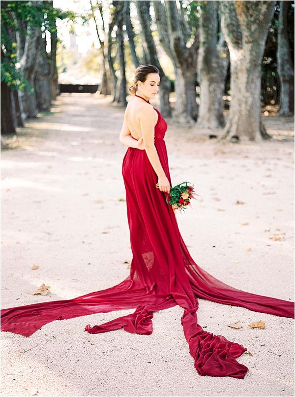 Aurelie Mey Bride - Burgundy Wedding Dress