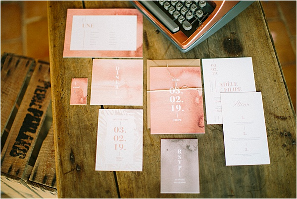 Château de Verderonne wedding Stationery