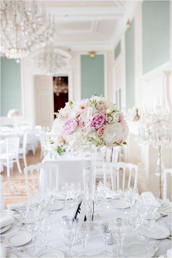 Chateau Bouffemont real wedding table centre