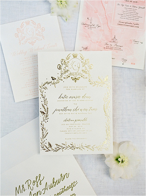 Fine Art French Wedding - Elegant Stationery