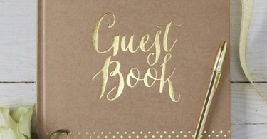 Gold Foil Kraft Vintage style guest book