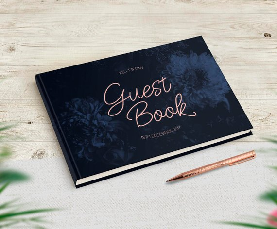 Navy Wedding Guestbook