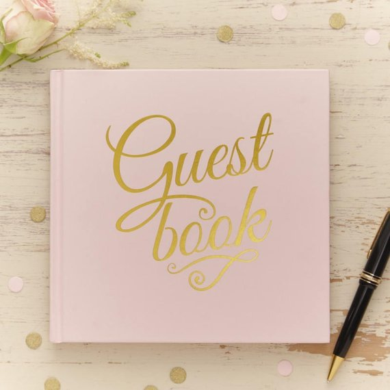 Pastel Perfection Guest Book in Pink