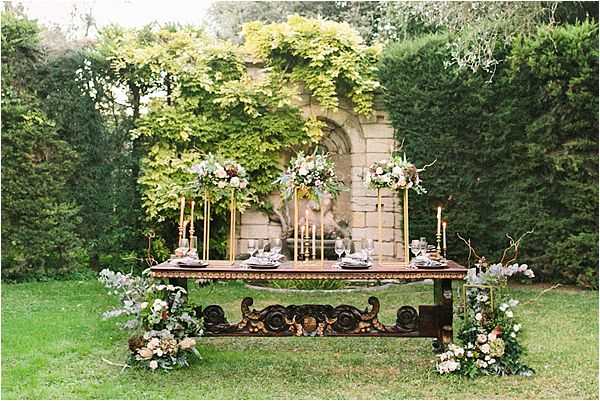 Table design in Wedding at Bastide du Roy Provence